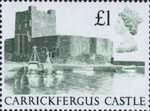 High Value Definitives £1 Stamp (1988) Carrickfergus Castle