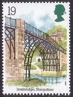 Industrial Archaeology 19p Stamp (1989) Ironbridge, Shropshire