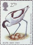 Birds 27p Stamp (1989) Avocet