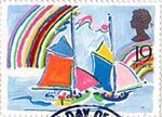 Greetings Booklet Stamps 19p Stamp (1989) Yachts