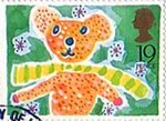 Greetings Booklet Stamps 19p Stamp (1989) Teddy Bear