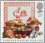 Food and Farming 27p Stamp (1989) Meat Products