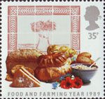 Food and Farming 35p Stamp (1989) Cereal Produce