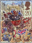 Lord Mayor's Show, London 20p Stamp (1989) Royal Mail Coach