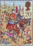Lord Mayor's Show, London 20p Stamp (1989) Blues and Royals Drum Horse