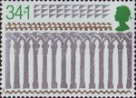 Christmas. 800th Anniversary of Ely Cathedral 35p Stamp (1989) Arcade from West Transept