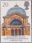 Europa and 'Glasgow 1990 European City of Culture' 20p Stamp (1990) Alexandra Palace ('Stamp World Exhibition 90' Exhibtion)