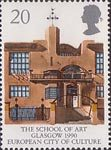 Europa and 'Glasgow 1990 European City of Culture' 20p Stamp (1990) Glasgow School of Art
