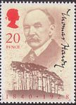 150th Birth Anniversary of Thomas Hardy (author) 20p Stamp (1990) Thomas Hardy and Clyffe Clump, Dorset