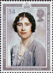 90th Birthday of Queen Elizabeth the Queen Mother 34p Stamp (1990) Elizabeth, Duchess of York