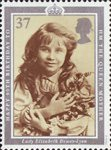 90th Birthday of Queen Elizabeth the Queen Mother 37p Stamp (1990) Lady Elizabeth Bowes-Lyon