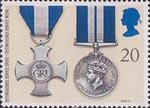 Gallantry 20p Stamp (1990) Distinguished Service Cross and Distinguished Service Medal