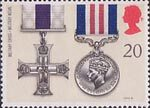 Gallantry 20p Stamp (1990) Military Cross and Military Medal