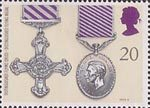 Gallantry 20p Stamp (1990) Distinguished Flying Cross and Distinguished Flying Medal