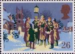 Christmas 1990 26p Stamp (1990) Carol Singing