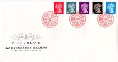 Penny Black Anniversary Stamps 1840 - 1990 (1990)