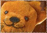 Greetings Booklet Stamps. 'Smiles' 20p Stamp (1990) Teddy Bear