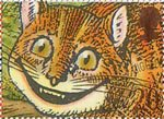 Greetings Booklet Stamps. 'Smiles' 20p Stamp (1990) Cheshire Cat