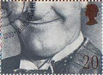 Greetings Booklet Stamps. 'Smiles' 20p Stamp (1990) Stan Laurel (comedian)
