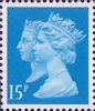 Penny Black Anniversary Stamps 1840 - 1990 15p Stamp (1990) Bright Blue