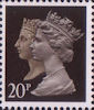 Penny Black Anniversary Stamps 1840 - 1990 20p Stamp (1990) Brownish Black and Cream