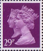 Penny Black Anniversary Stamps 1840 - 1990 29p Stamp (1990) Deep Mauve