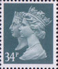 Penny Black Anniversary Stamps 1840 - 1990 34p Stamp (1990) Deep Bluish Grey