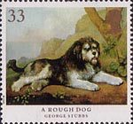 Dogs 33p Stamp (1991) 'A Rough Dog'