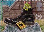 Greetings Booklet Stamps 'Good Luck' 1st Stamp (1991) Four-leaf Clover in Boot and Match Box