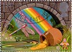 Greetings Booklet Stamps 'Good Luck' 1st Stamp (1991) Pot of Gold at End of Rainbow