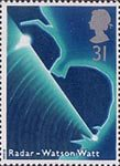 Scientific Achievements 31p Stamp (1991) Radar Sweep of East Anglia (50th Anniversary of Discovery by Sir Robert Watson-Watt)