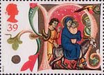 Christmas 39p Stamp (1991) The Flight into Egypt