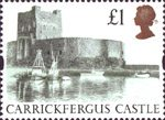 High Value Definitives �Stamp (1992) Carrickfergus Castle