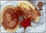 Greetings - Memories 1st Stamp (1992) Double Locket