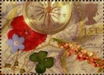 Greetings - Memories 1st Stamp (1992) Compass and Map