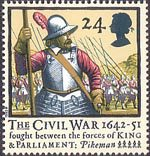 350th Anniversary of the Civil War 24p Stamp (1992) Pikeman