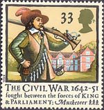 350th Anniversary of the Civil War 33p Stamp (1992) Musketeer