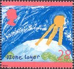 The Green Issue 28p Stamp (1992) Ozone Layer