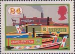 Inland Waterways 24p Stamp (1993) Midland Maid and other Narrow Boats, Grand Junction Canal