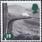 The Age of Steam 19p Stamp (1994) Class 5 No 44957 and Class B1 No. 61343 on West Highland Line