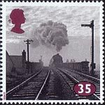 The Age of Steam 35p Stamp (1994) Class 4 No. 42455 near Wigan Central