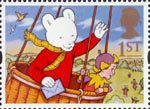 Greetings Stamps - Messages 1st Stamp (1994) Rupert Bear