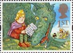 Greetings Stamps - Messages 1st Stamp (1994) Noggin and the Ice Dragon