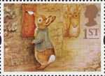 Greetings Stamps - Messages 1st Stamp (1994) Peter Rabbit posting Letter
