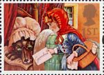 Greetings Stamps - Messages 1st Stamp (1994) Red Riding Hood and Wolf