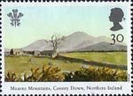 25th Anniversary of Investiture of the Prince of Wales 30p Stamp (1994) Mourne Mountains, County Down, Northern Ireland
