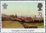 25th Anniversary of Investiture of the Prince of Wales 35p Stamp (1994) Deringham, Norfolk, England