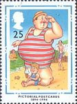 Centenary of Picture Postcards 25p Stamp (1994) 'Where's my Little Lad?'