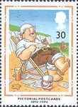 Centenary of Picture Postcards 30p Stamp (1994) 'Wish You were Here!'