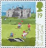 Scottish Golf Courses 19p Stamp (1994) The Old Course, St Andrews